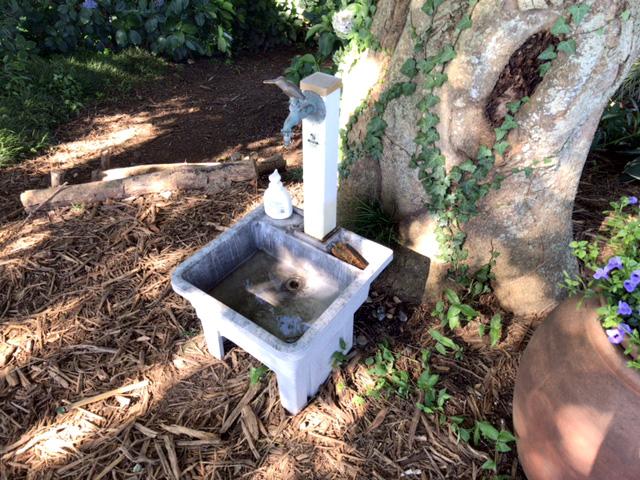 ブルーベリー農園こでらは水道があります。